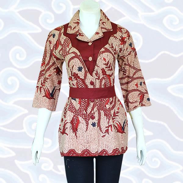 Model Baju Batik Wanita Modern Terkini Baju Batik Pekalongan Solo
