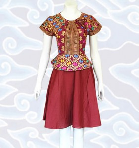 model baju batik wanita modern terkini