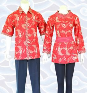 blus batik sarimbit couple